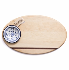 soundview millworks oval dip with ceramic bowl serving board