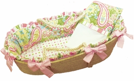 spring paisley moses basket by doodlefish - unavailable