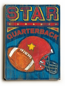 star quarterback vintage sign