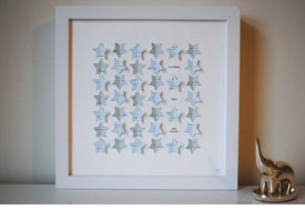 star shadow box keepsake frame - blue stars