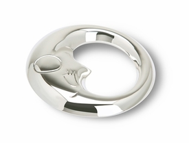 sterling silver  moon rattle