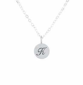 sterling silver satin charm necklace