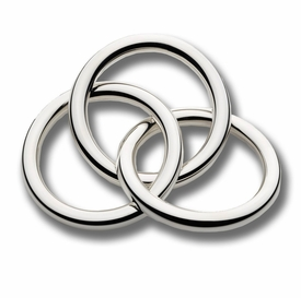 sterling three ring silver rattle