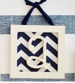 """Straight Edge Framed Wooden Letters - """"a"""""""