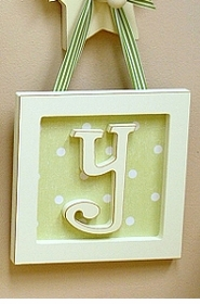 """Straight Edge Framed Wooden Letters - """"y"""""""