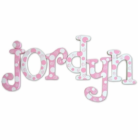 """strawberry ice 8"""" wooden hanging letters"""
