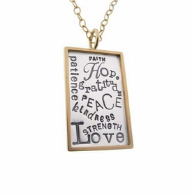 strength love faith charm necklace