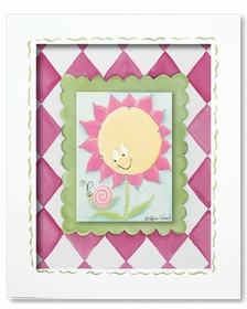 sunny flower wall art - pink diamond - SOLD OUT