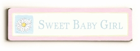 sweet baby girl vintage sign