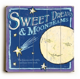 sweet dreams and moonbeams vintage sign