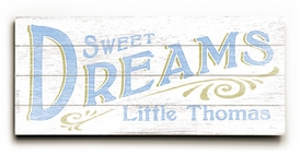 sweet dreams boy vintage sign