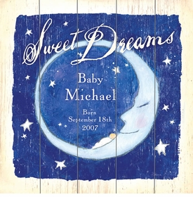 sweet dreams moon vintage sign