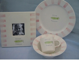 sweet pea baby plate set