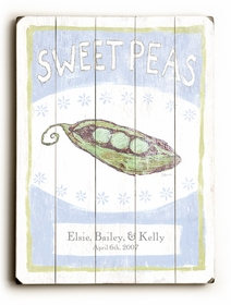 sweet peas 2 vintage sign