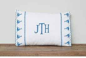 sweet william by the sea sailboats boudoir pillow and case