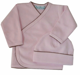 take me home 3 piece set in pink with brown trim