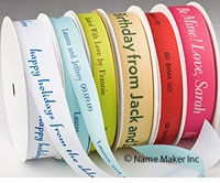 Textured Personalized Printed Ribbons