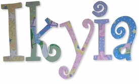 """the princess 8"""" wooden hanging letters"""
