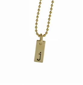 """tiny 1/2"""" 14k solid gold small id tag necklace"""