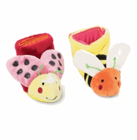 tiny toes lady bug and bee booties by manhattan toy