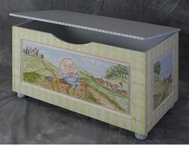 Hand Painted Toy Boxes Baby Furniture Luxury Baby