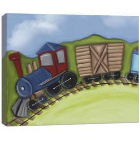 train engine wall art