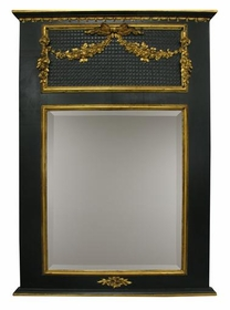 trumeau mirror (black/gold gilding)