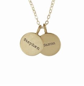 twin 14k small name necklace