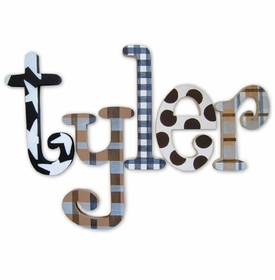 """tyler's patterns 8"""" wooden hanging letters"""