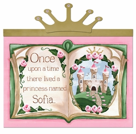 upon a time storybook royal rose-c personalized wall hanging