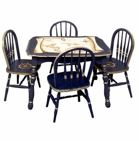 vintage table and chairs (gold mapping)