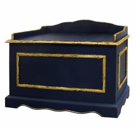 vintage toy chest  (navy/gold gilding)