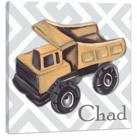 vintage toy dump truck wall art