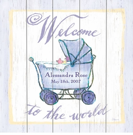 welcome to the world carriage vintage sign