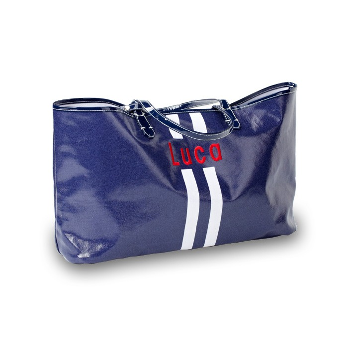 Wellie Market Tote Racing Stripe Featured At Babybox Com