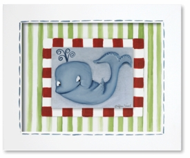 whale giclee framed reproduction wall art - SOLD OUT