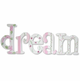 """whimsical dream in pink 8"""" hand painted wooden letters"""