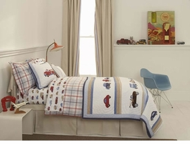 whistle & wink cars and trucks kid bedding