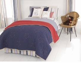 whistle & wink classic stars & stripes kid bedding