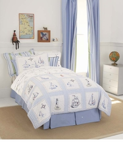 whistle & wink high seas kid bedding collection