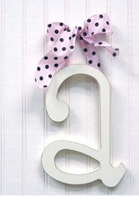 """wooden hanging letter - """"a"""""""