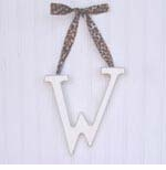 """wooden hanging letter - """"w"""""""
