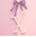 """wooden hanging letter - """"x"""""""