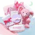 Minky Dots Baby Girl Gift Basket - Personalized Baby Basket