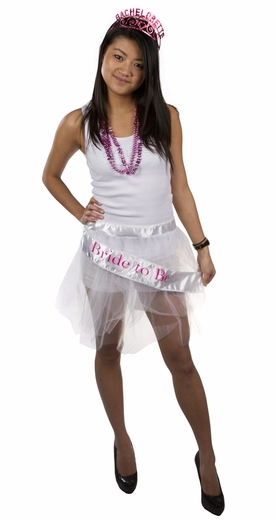 Bachelorette Tutu - White - Clearance!