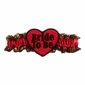 Bride to Be Heart Garter