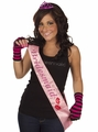 Bridesmaid Sash - Pink Flashing