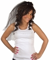 Bridesmaid Tank Top - White with Silver Gemstones