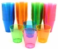 Neon Plastic Shot Cups  - 2 oz. - Assorted Colors - 60