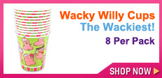 Wacky Willy Cups for a bachelorette party
